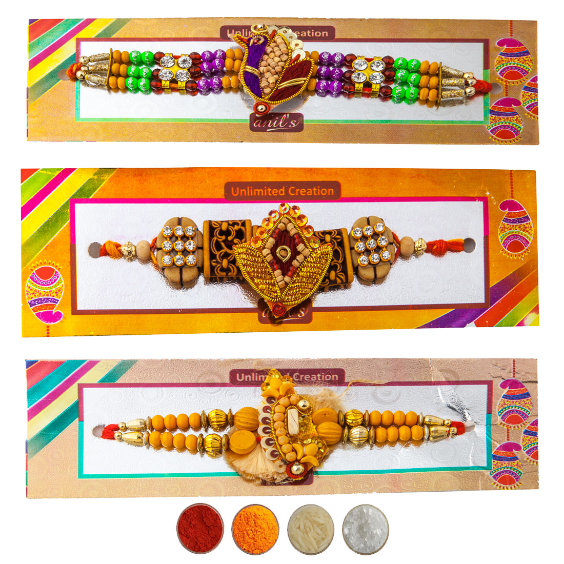 Pure Chandan Rakhi Set of Three