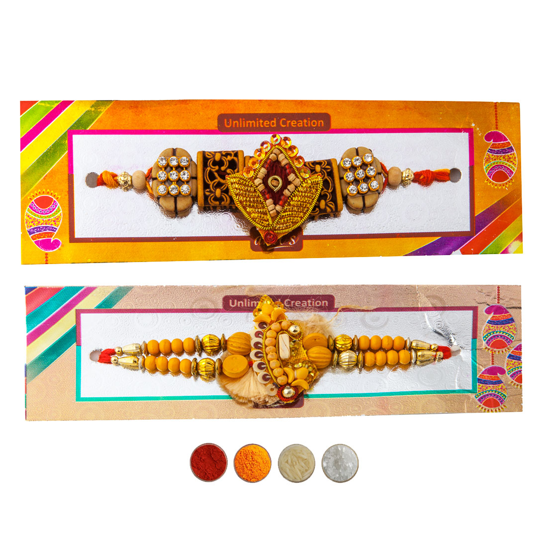 Chandan Rakhi Set of Two