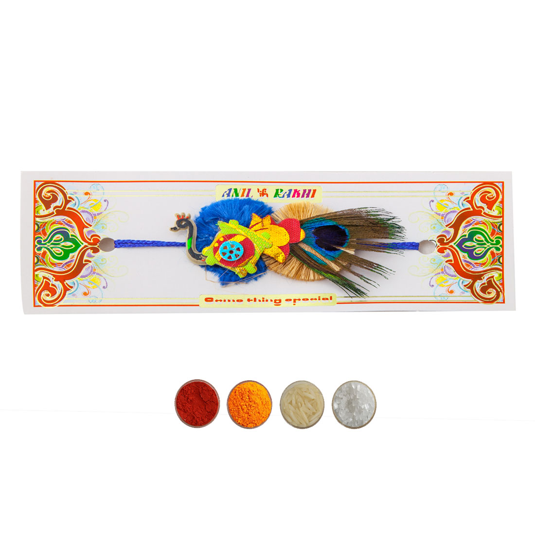 Handcrafted Peacock Design Rakhi