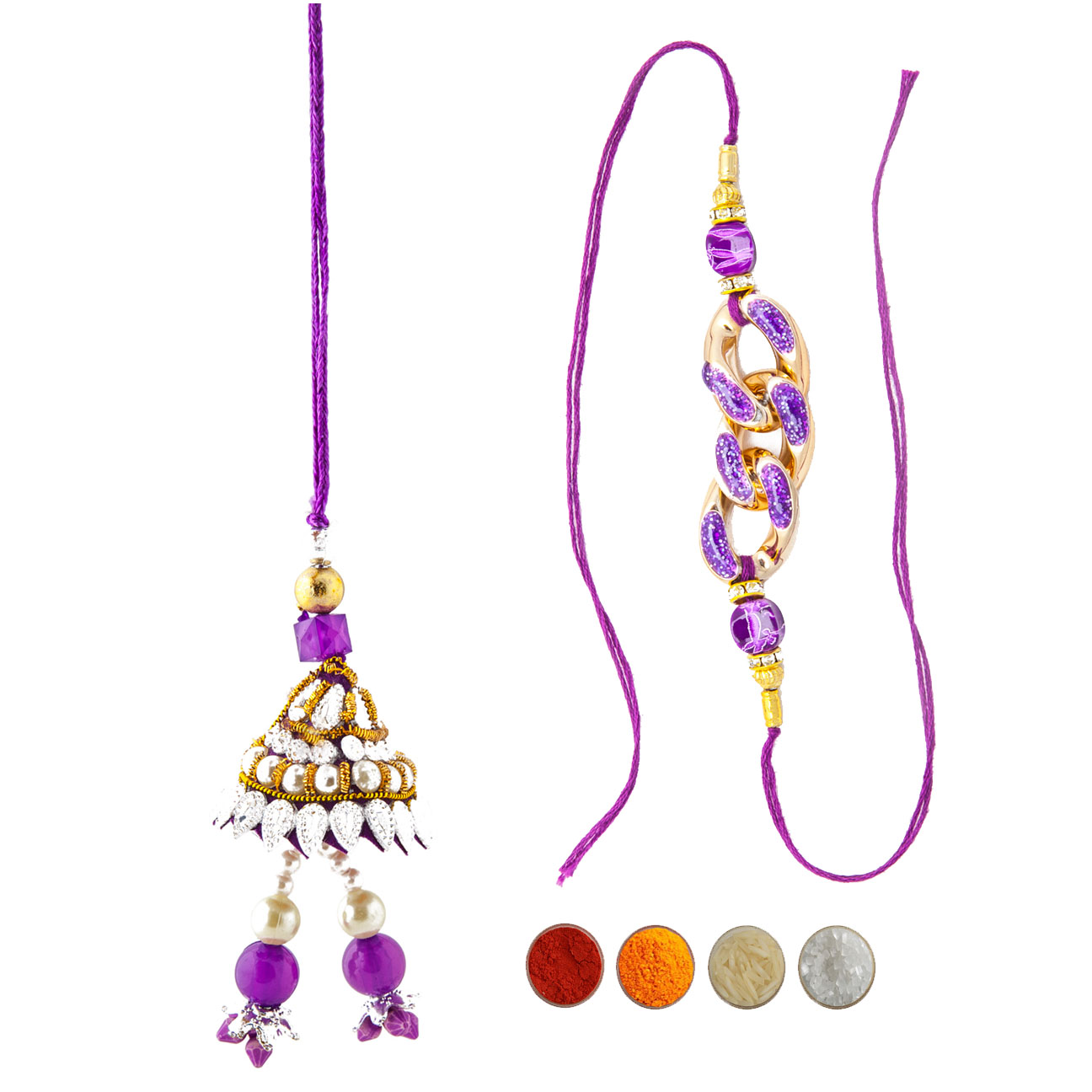 Designer Rakhi Set for Bhaiya Bhabhi