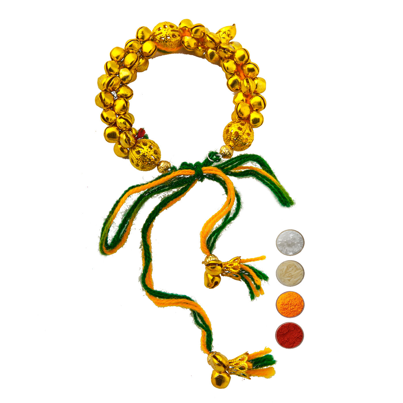 Lumba Rakhi with Golden Ghunghru