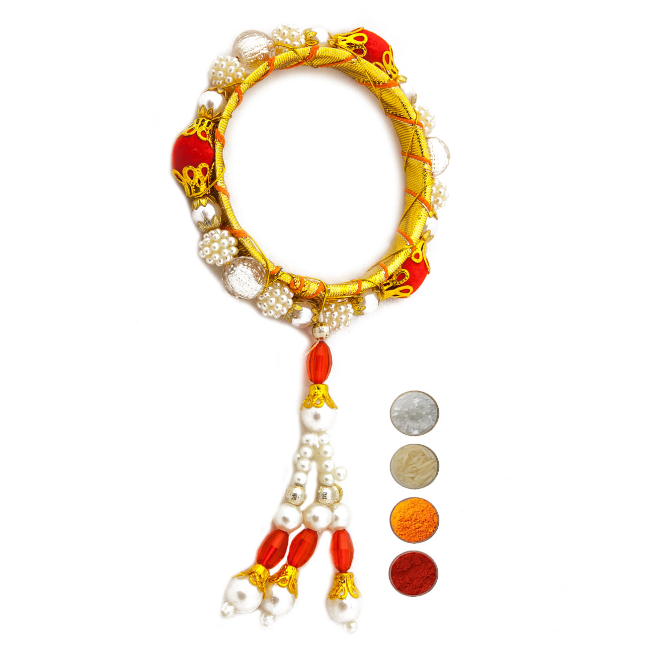Bangle Shape Lumba with Pearl and Beads