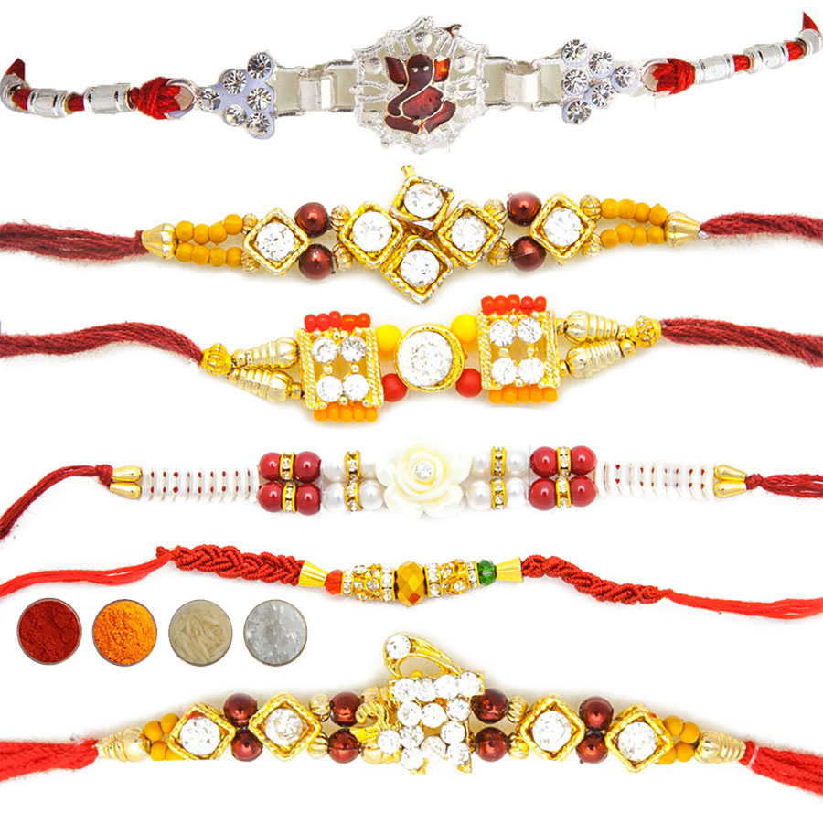 Designer Rakhi Set of Six