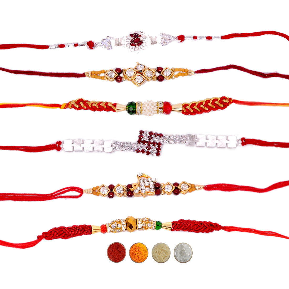Fancy Rakhi Set of Six for Brothers