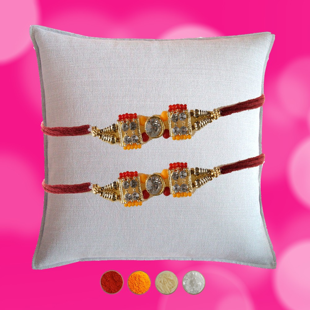 Set of 2 Premium Stone Rakhi