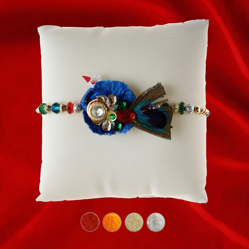 Peacock Feather Bhaiya Rakhi