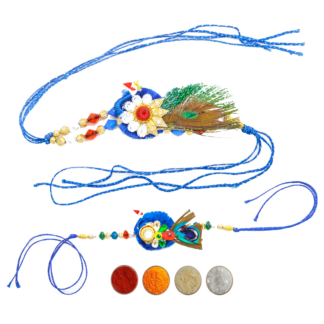Peacock Design Rakhi Set