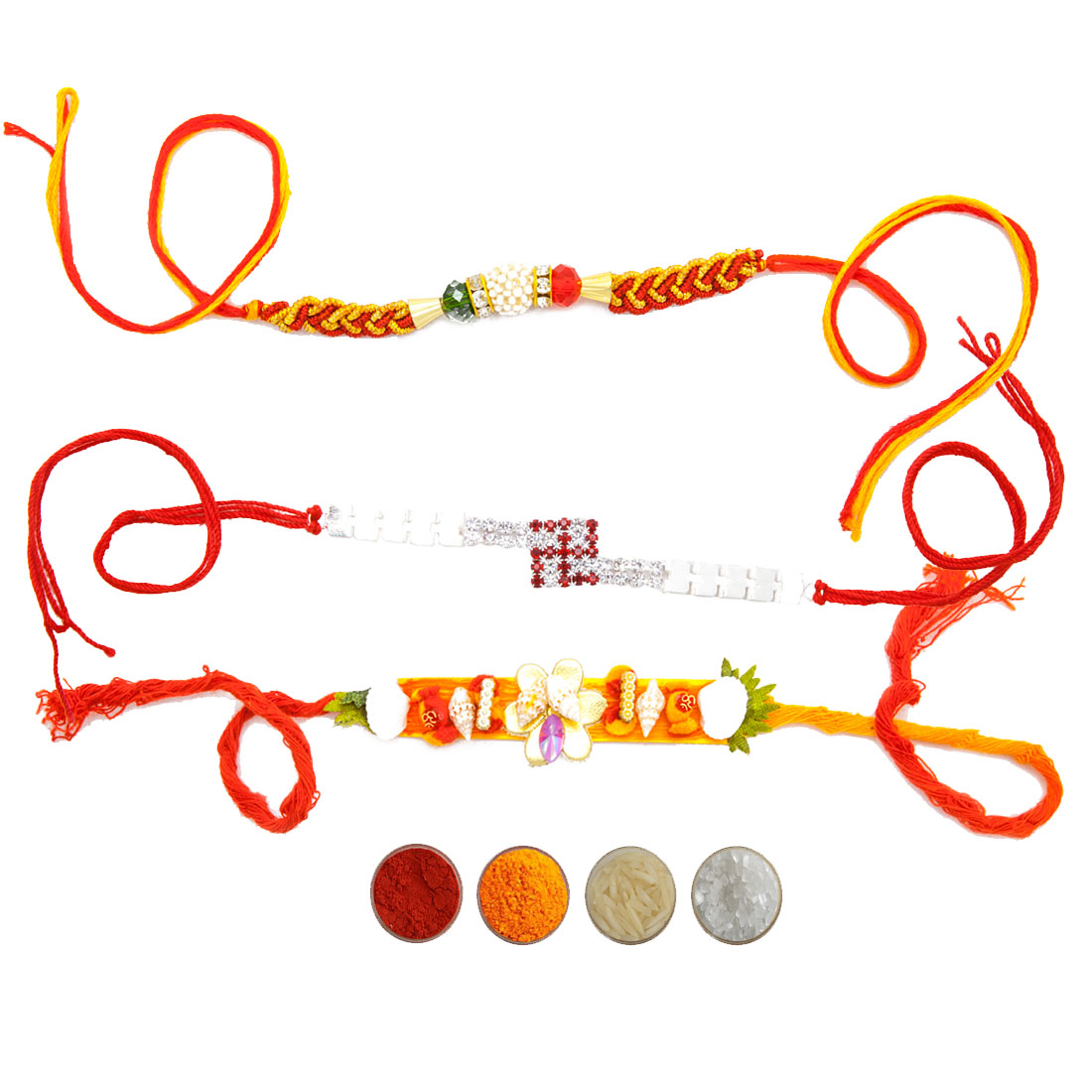 Fancy Bhaiya Rakhi Set of Three