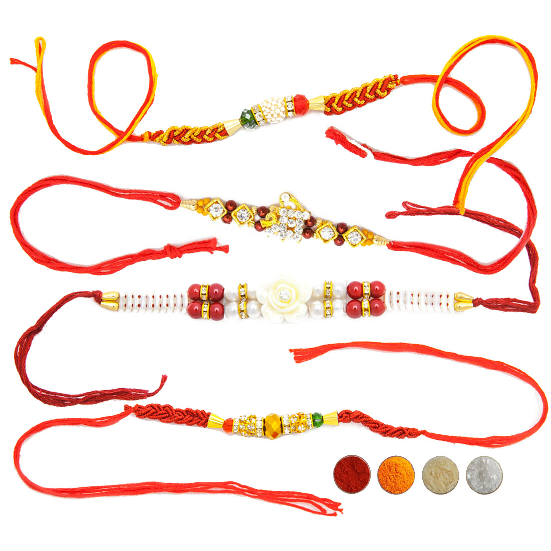 Mauli Rakhi Set of Four