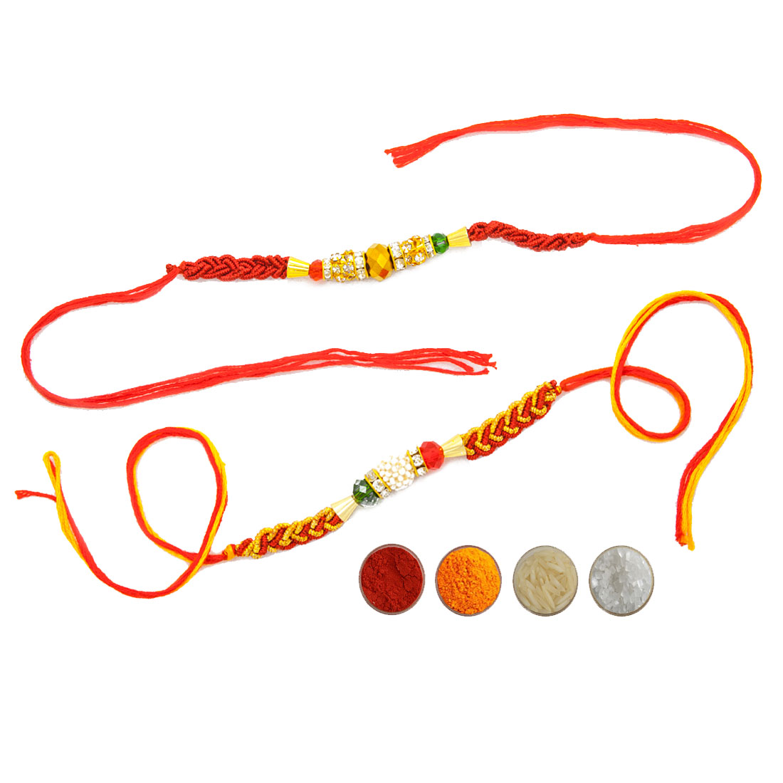 Premium Beads Rakhi Set of Two