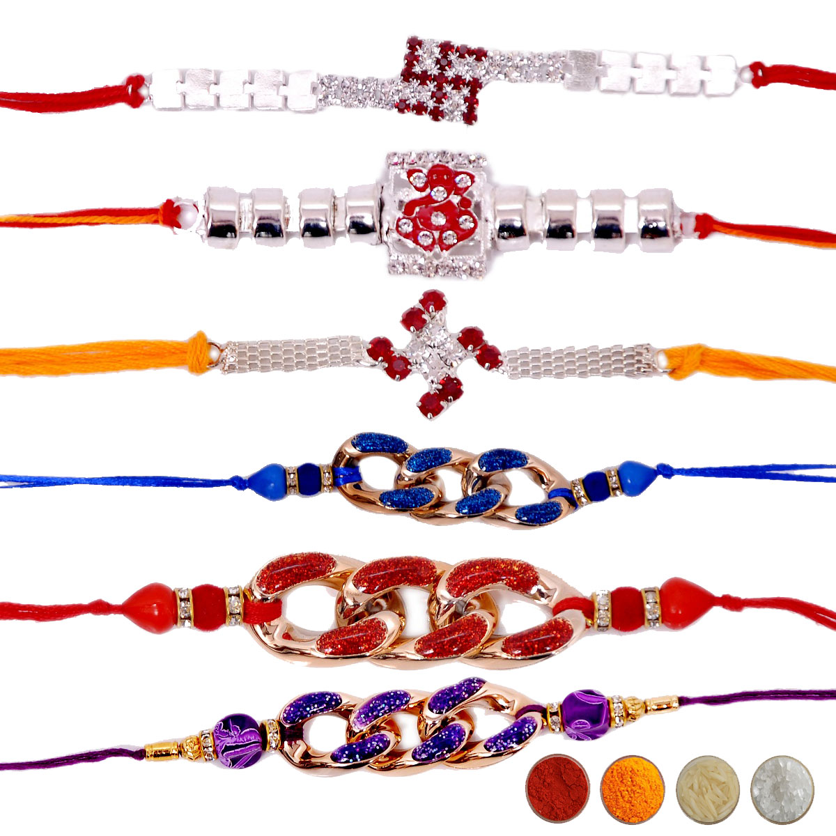 Stone Rakhi Set of Six