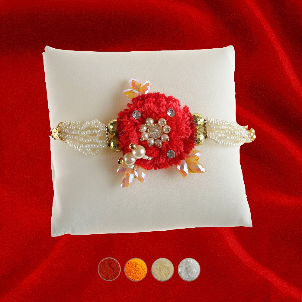 Wooly Rakhi Thread for Bhaiya
