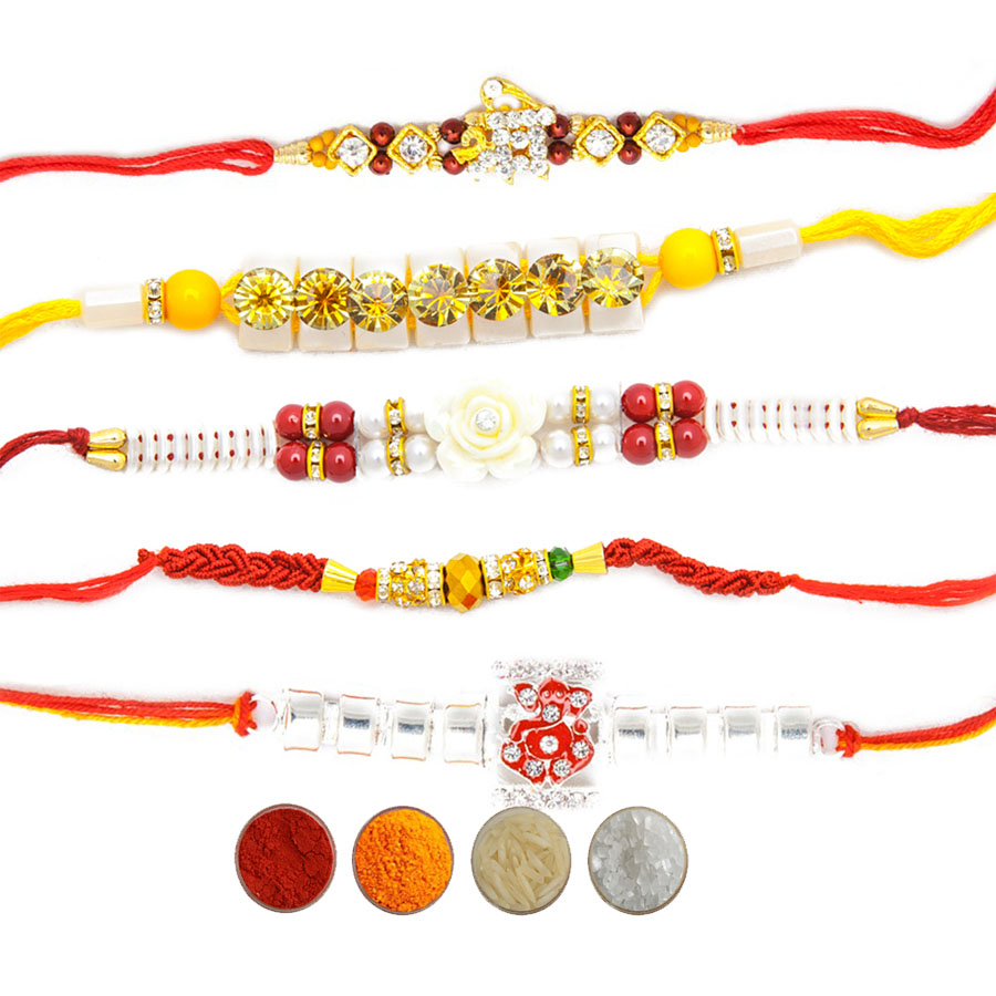 Set of Five Fancy Rakhi