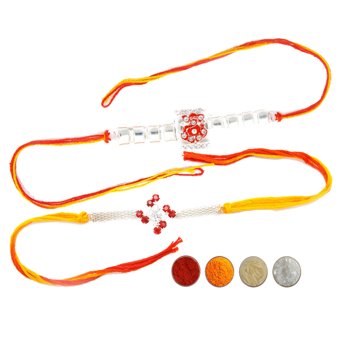 Premium Rakhi Set with Mauli Thread