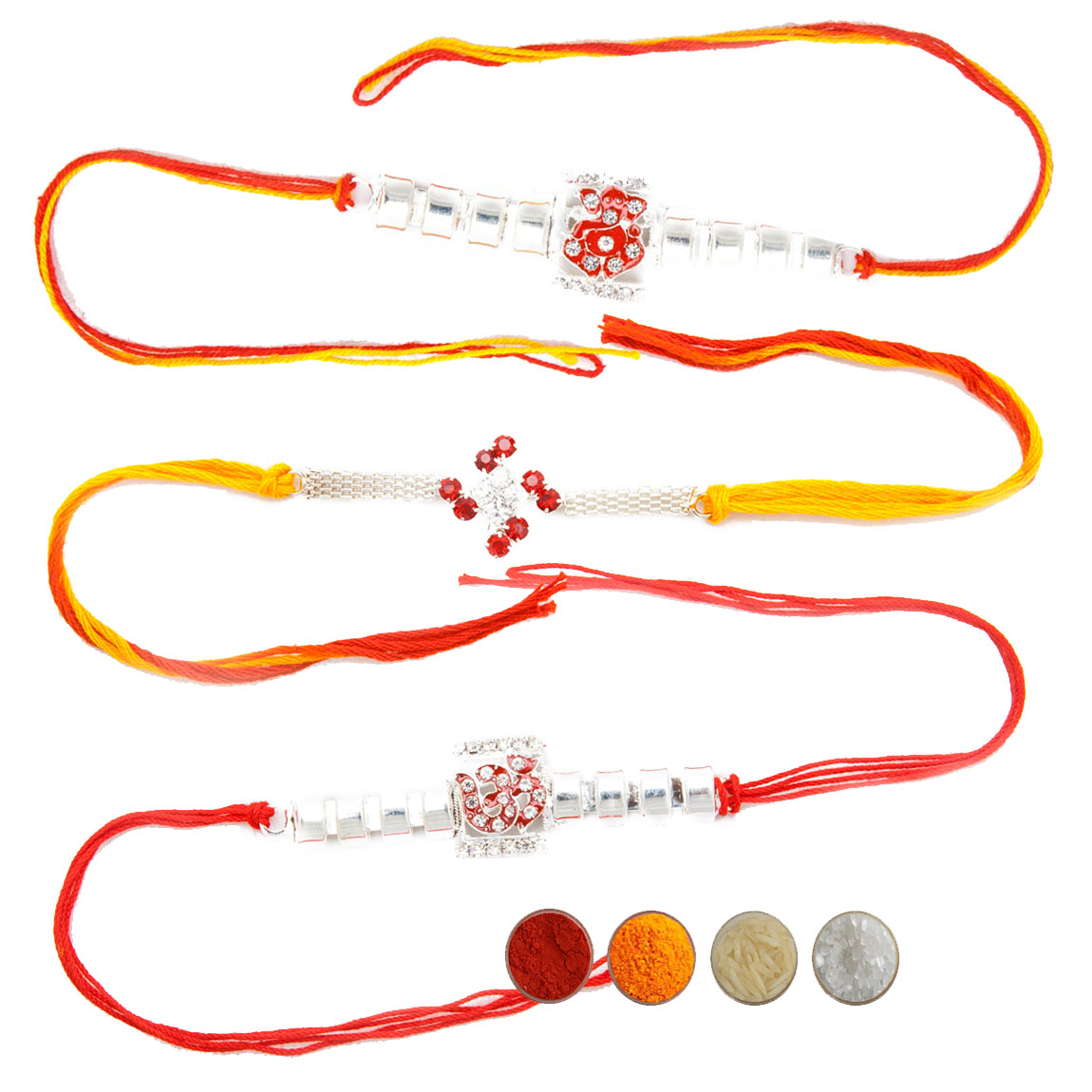 Spiritual Rakhi Set of Three