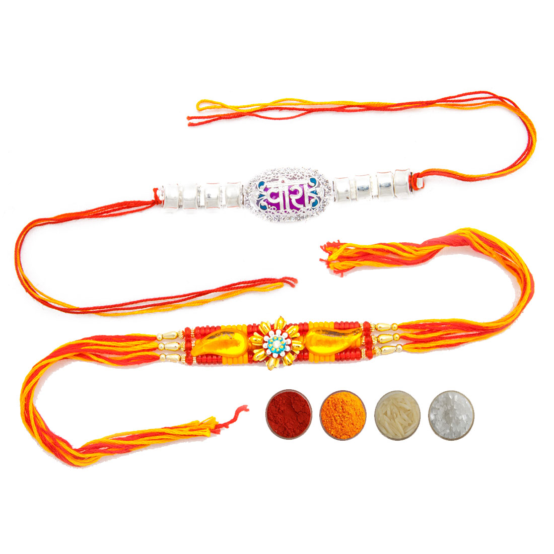 Fancy Mauli Rakhi Set of Two