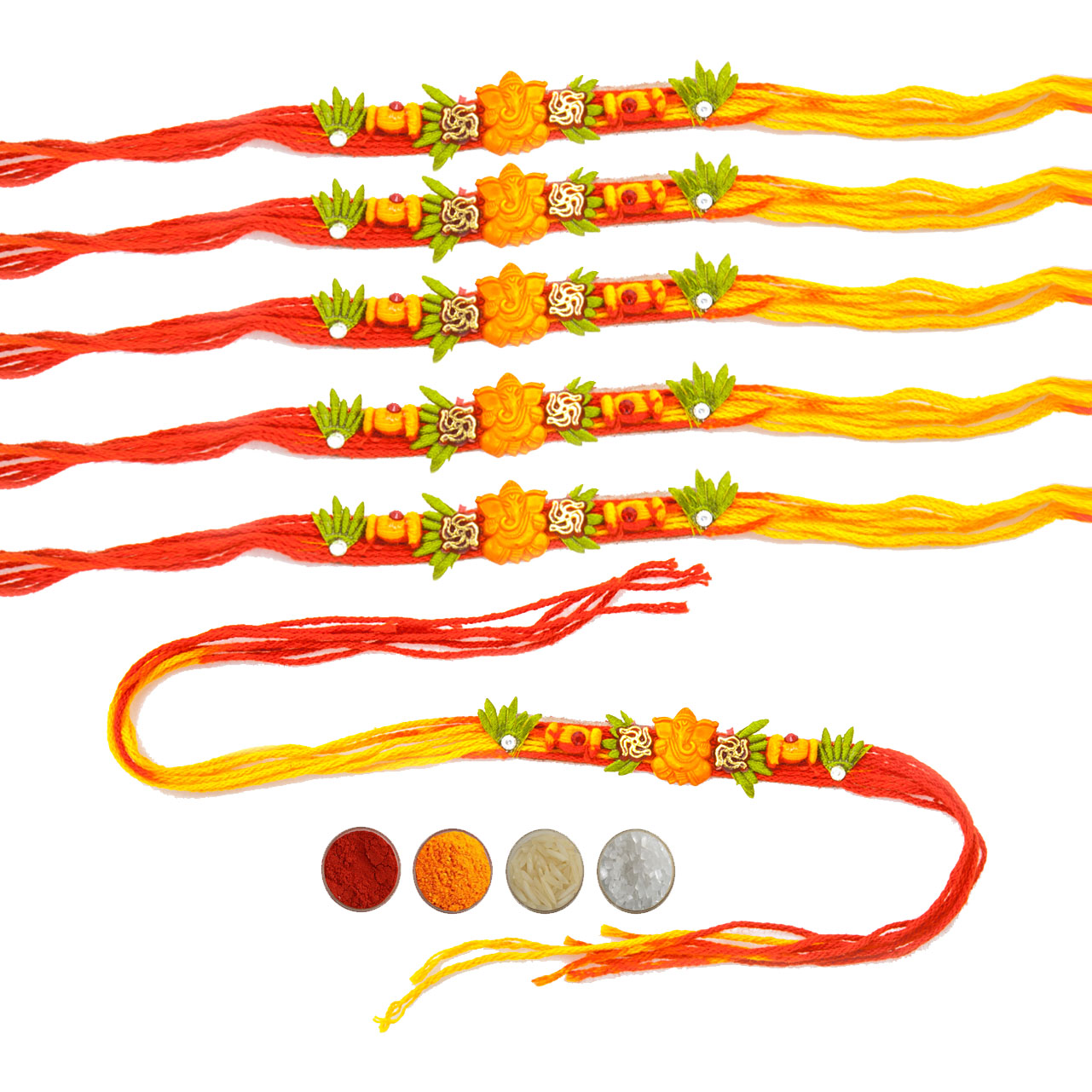 Ganesha Mauli Rakhi Set of Six