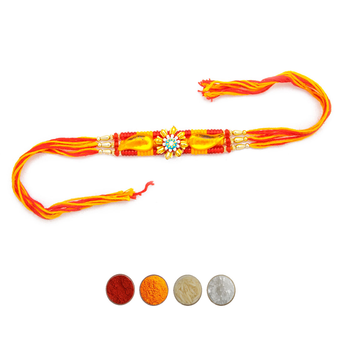 Colorful Beads Mauli Rakhi