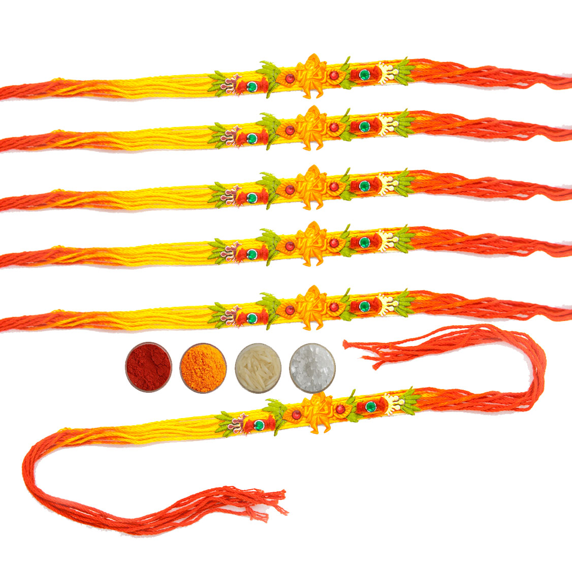 Hanuman Mauli Rakhi Set of Six