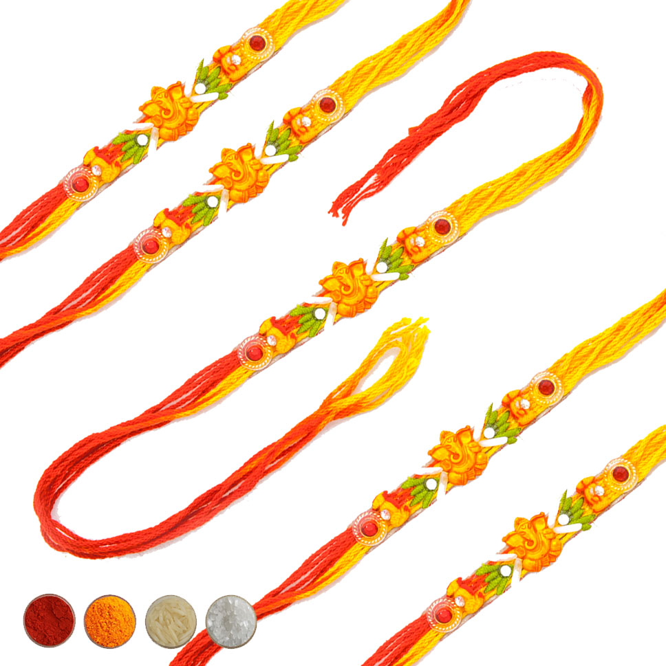 Set of Five Mauli Rakhi