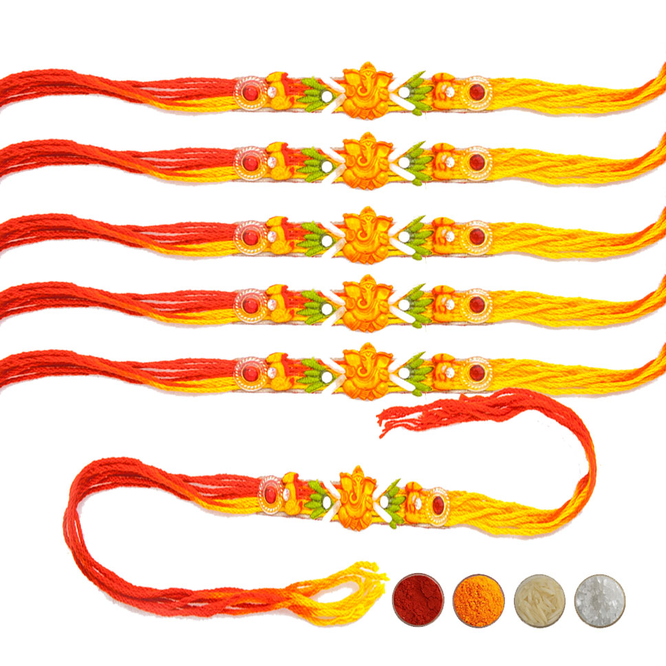 Mauli Rakhi Set of Six