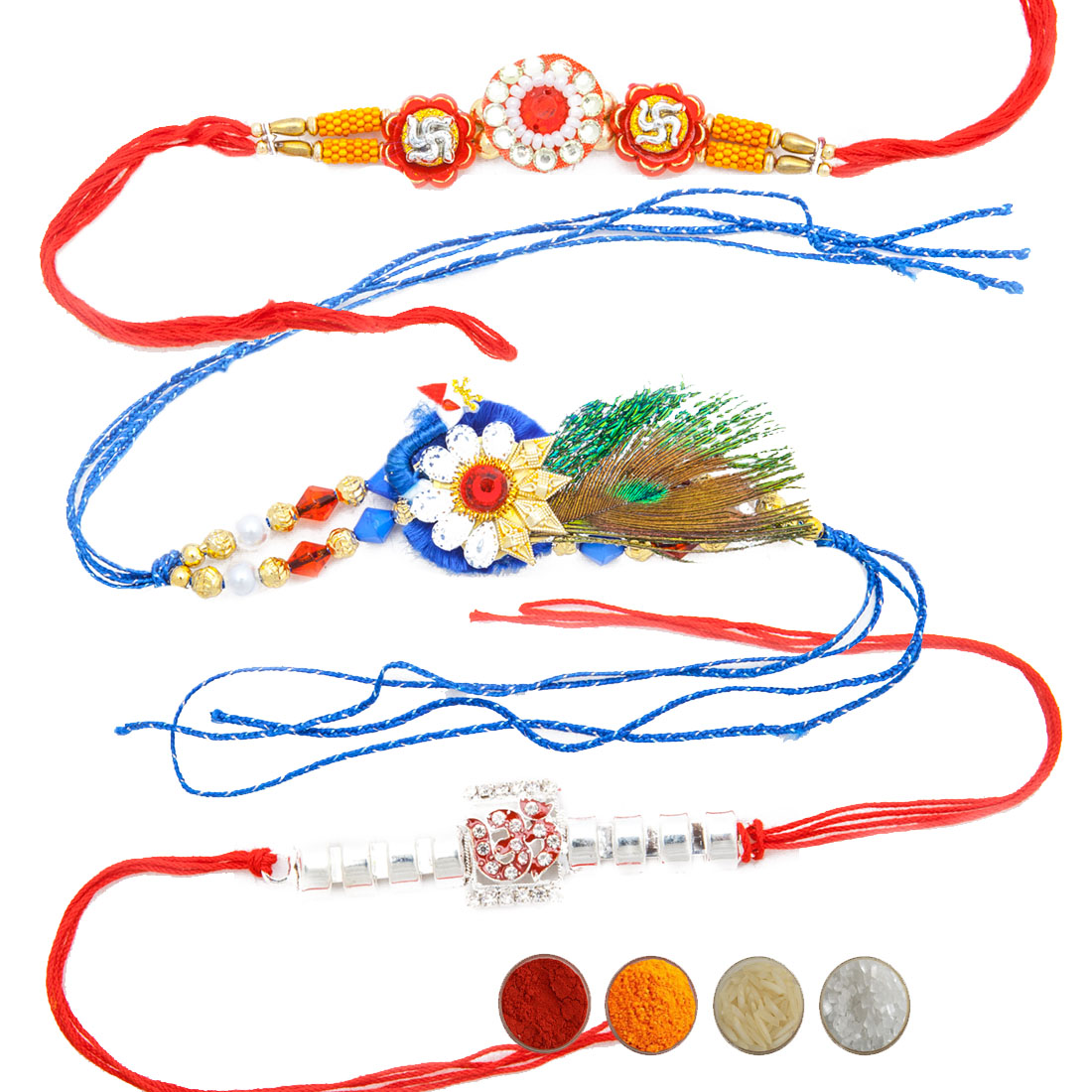 Auspicious Rakhi Set of Three