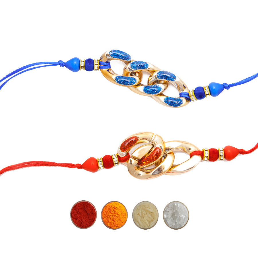 Fancy Rakhi Set with Silk Thread