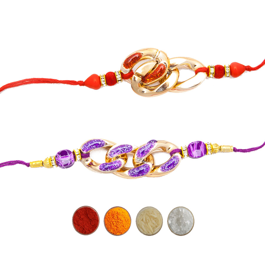 Set of Two Fancy Rakhi for Brothers