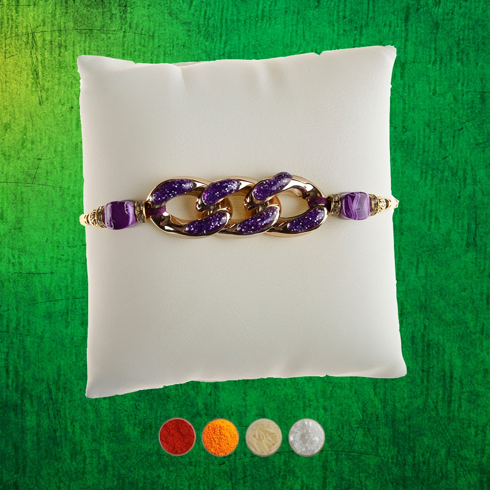 Designer Purple Rakhi