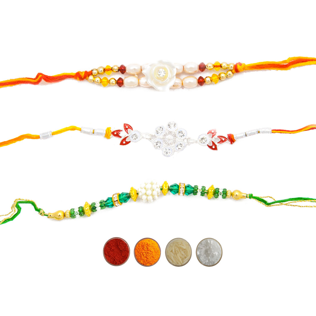 Fancy Rakhi Thread for Bhaiya Set of Three