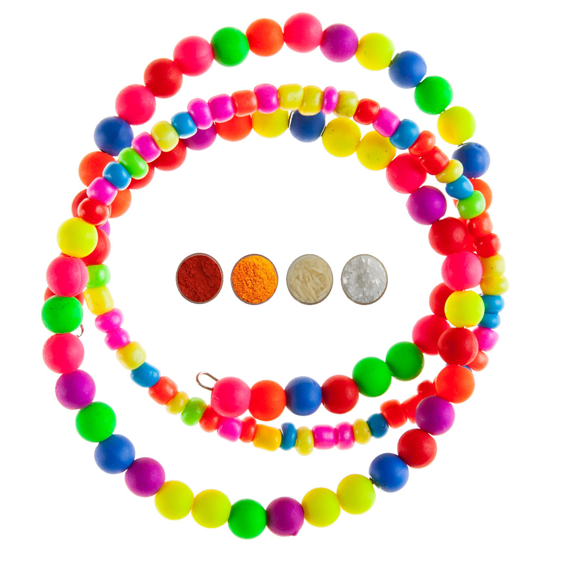 Multicolor Beads Bracelet Rakhi