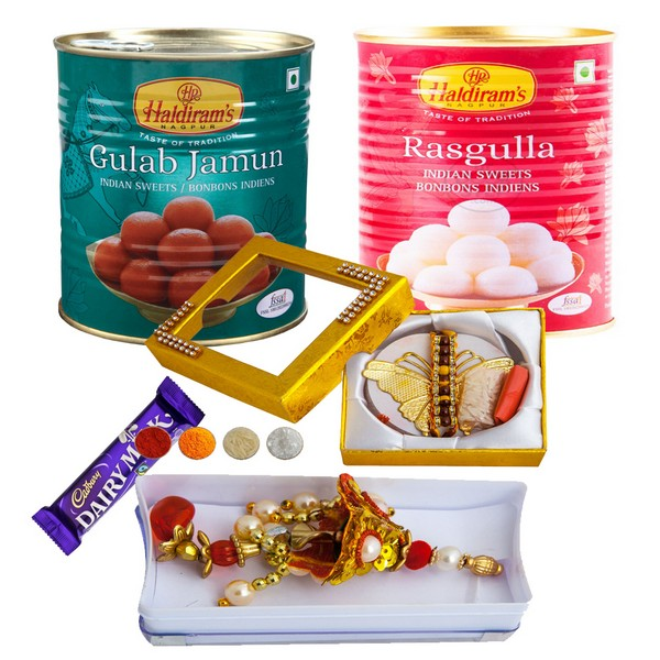 Rakhi for Bhaiya Bhabhi with Sweets