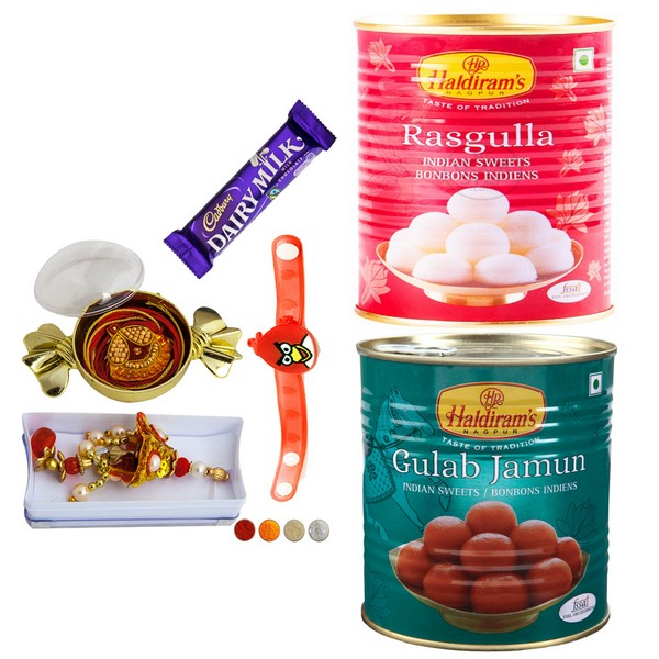 Family Rakhi Set with Sweets