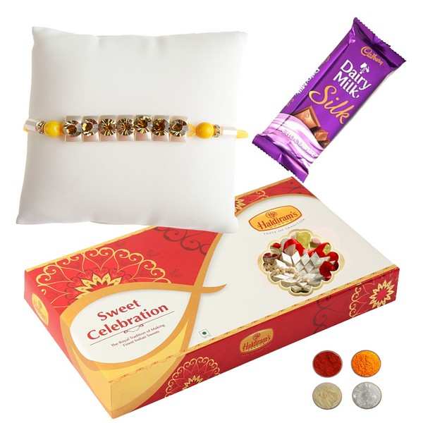 Premium Rakhi with Chocolate n 500g Kaju Katli
