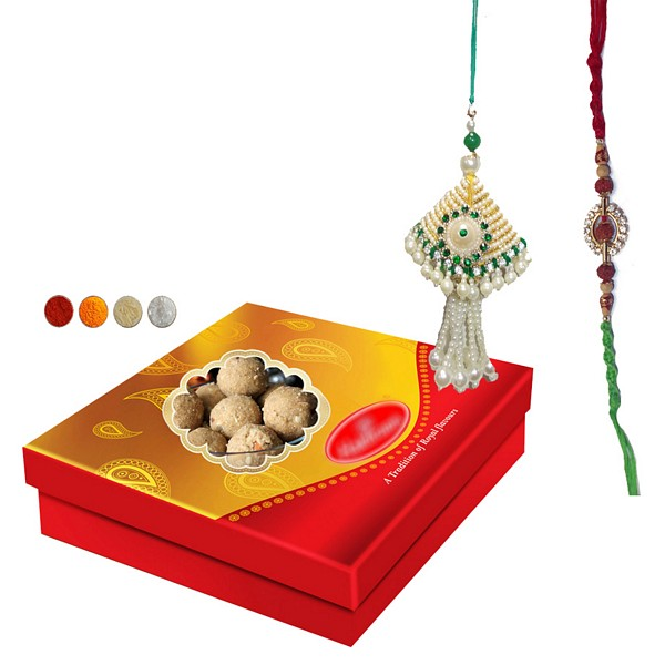 Bhaiya Bhabhi Rakhi with 500g Laddu