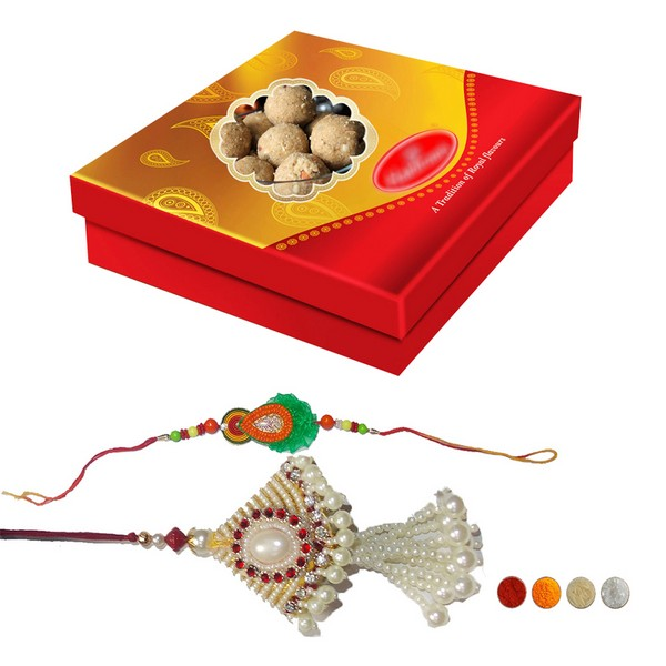 Rakhi Set with 500g Laddu