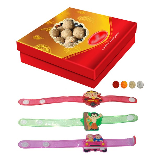 Kids Rakhis with 500g Laddu