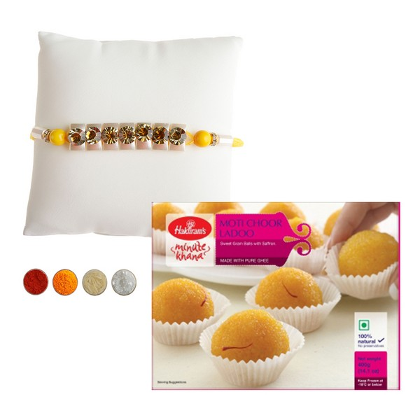 Premium Rakhi with 500g Laddu