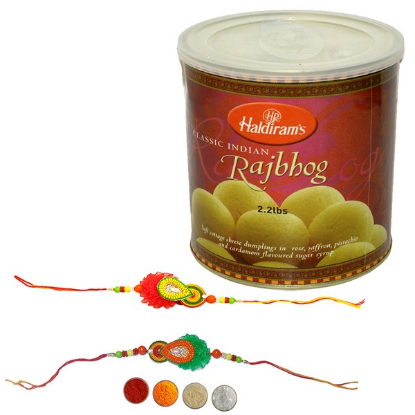 Handcrafted Rakhi with Rajbhog