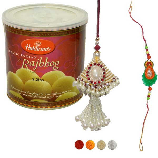 Bhaiya Bhabhi Rakhi Set with Rajbhog