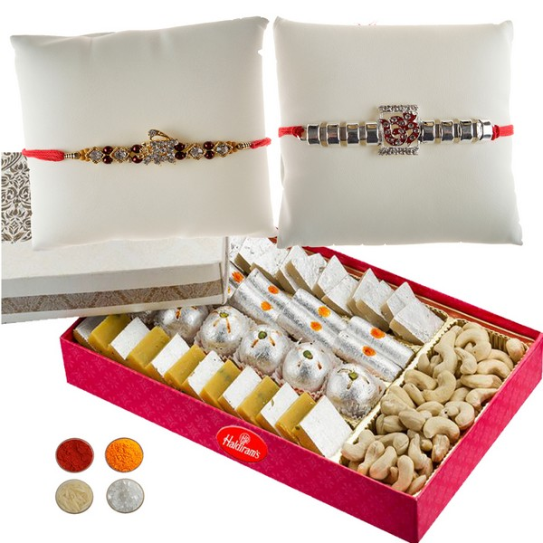 Auspicious Rakhi Set with Sweets