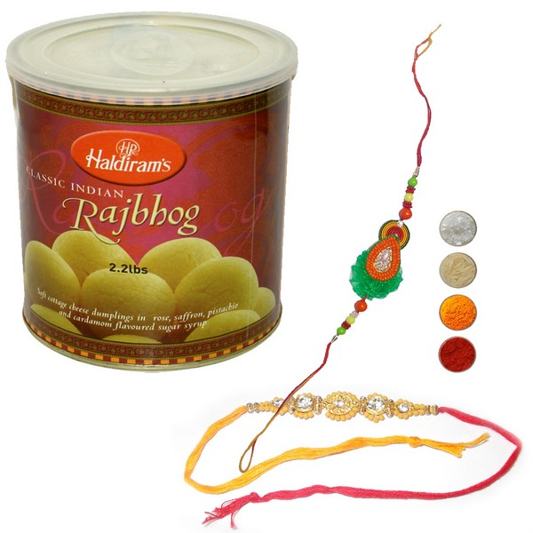 Auspicious Rakhi Set with Rajbhog