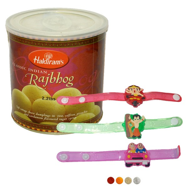 Kids Rakhi with Rajbhog
