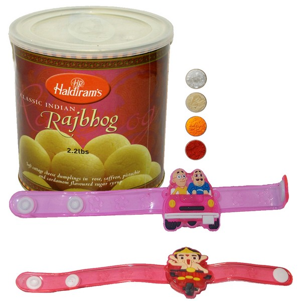 Fancy Kids Rakhi with Rajbhog