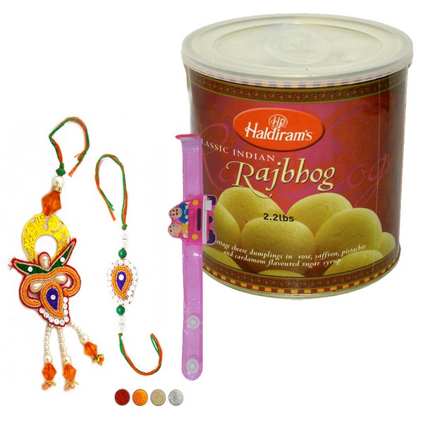 Family Rakhi Set with Rajbhog
