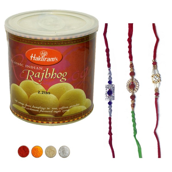 Rakhis with Delicious Rajbhog
