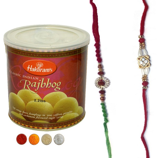 Rudraksha Rakhi Set with Rajbhog