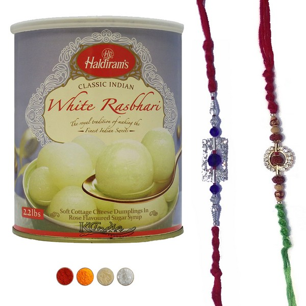 Precious Rakhi Set with Rasbhari
