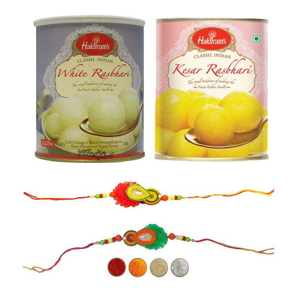 Fancy Handcrafted Rakhi with Rasbhari