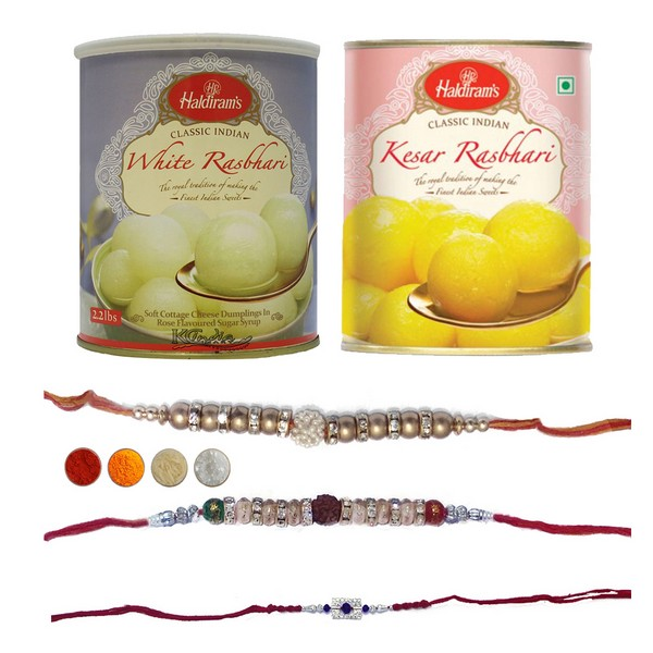 Designer Rakhi Set with Rasbhari